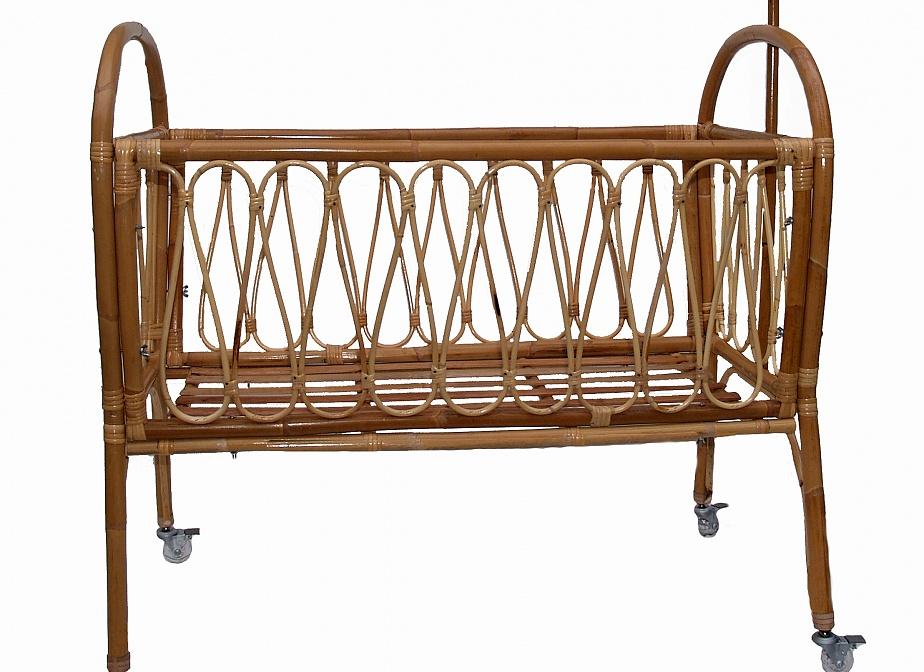 Cuna Bambu Desmontable, Cunas. La Cestería: Cestería, Mimbrería ...