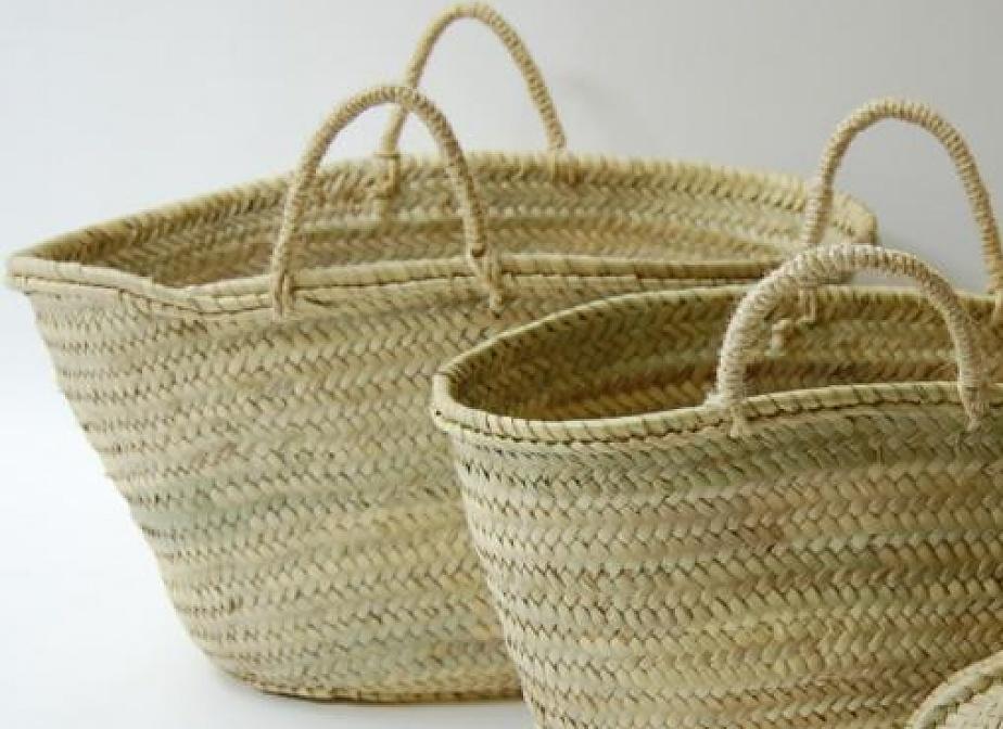 Capazo asa natural bolsos la cester a cester a mimbrer a mobiliario de mimbre mobiliario - Capazo mimbre playa ...