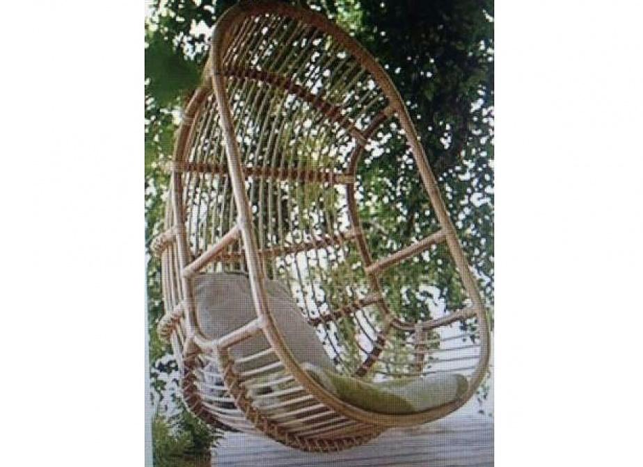 sillon columpio de bambu