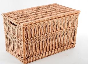 Baul mimbre artesano natural baules y roperos la cester a cester a mimbrer a mobiliario de - Baules de mimbre ...