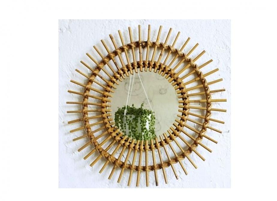 Espejo Bambu Retro Decoracin La Cestera Cestera Mimbrera