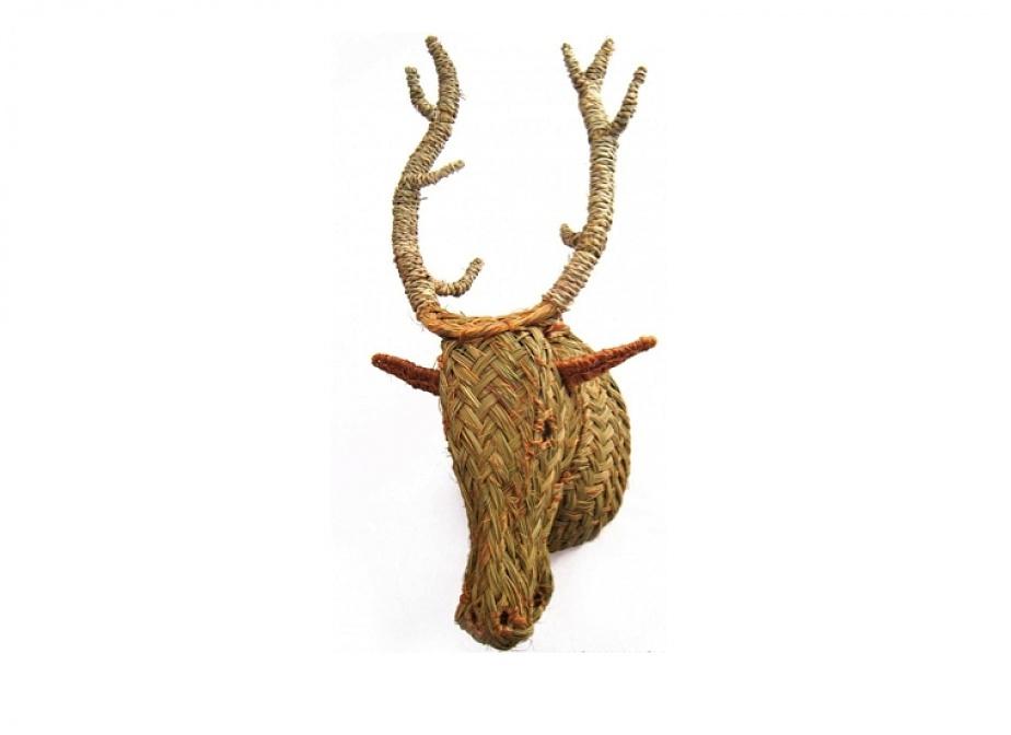 Cabeza de ciervo decoraci n la cester a cester a mimbrer a mobiliario de mimbre mobiliario - Cabeza de ciervo decoracion ...