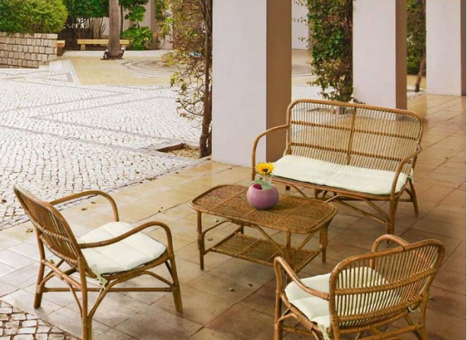 Conjunto jardin la marina mimbre rattan la cester a cester a mimbrer a mobiliario de mimbre - Jardin de bambu talavera ...