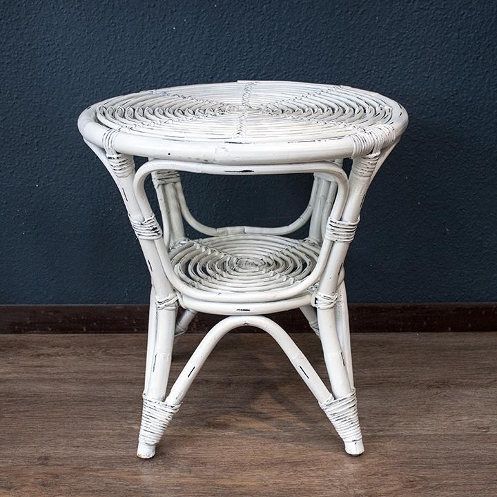 Mesa manila blanca mimbre rattan la cester a cester a mimbrer a mobiliario de mimbre - Mesas de mimbre ...